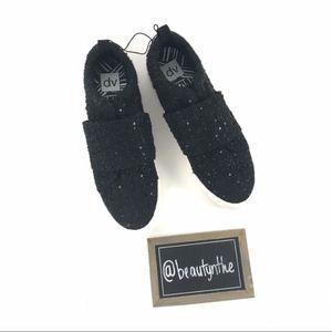 Dolce vita black glitter platform tennis shoes
